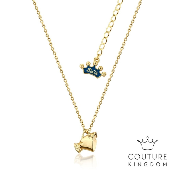 Couture Kingdom 迪士尼美女與野獸 茶杯阿齊鍍14K金項鍊 Beauty and the Beast Necklace
