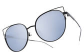 PAUL HUEMAN 水銀太陽眼鏡 PHS1104A C5-1 (黑) 韓系人氣貓眼藍水銀款 # 金橘眼鏡