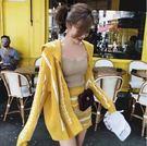 VK精品服飾 韓國風時尚緹花水波紋套裝長袖裙裝