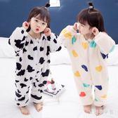 嬰幼兒童連體衣 寶寶女秋冬季男嬰兒外穿可愛冬珊瑚絨 BF16735『寶貝兒童裝』
