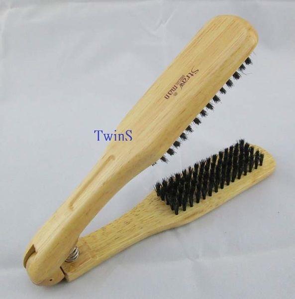 【TwinS伯澄】STRAW MAN 原木夾梳直髮梳W575