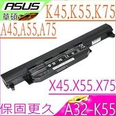 ASUS 電池(保固最久)-華碩 A45,A55,A75,A45D,A45DE,A45DR,A45N,A45V,A45VD,A45VG,A45VM,A45VS,A32-K55