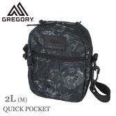 【GREGORY 美國 Quick Pocket M 斜背包《闇黑印花》2L】65467/側背包/腰包/休閒包/臀包/兩用包