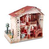 YAHOO618◮樂立方3d立體拼圖 女孩diy手工拼裝玩具 別墅小屋房子城堡模型 韓趣優品☌