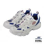 Skechers D'Lites 白色 皮質 休閒運動鞋 男款 NO.B0858【新竹皇家 52690WBRD】