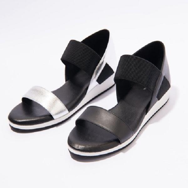 ★2017春夏新品★kadia.牛皮腳背鬆緊帶涼鞋(7109-80銀)