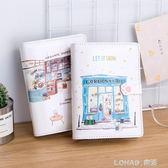 手賬本創意 韓國小清新可愛彩頁活頁手帳 插畫手繪女日記筆記本子 樂活生活館