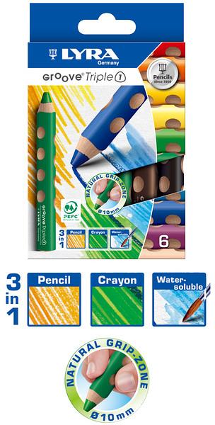 【德國LYRA】GROOVE(3合1)胖胖三角洞洞筆(6色)╭★ JOYBUS玩具百貨