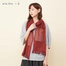 a la sha+a 氣質網紗拼接薄針織圍巾