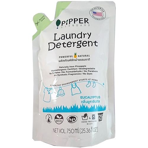 PiPPER STANDARD 低敏洗衣精補充包 750ml-尤加利【合康連鎖藥局】