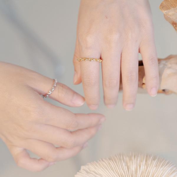 Queen Shop【07060161】低調細鎖鏈造型戒指 兩色售*現+預*