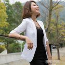 棉麻西裝外套女士休閒西服修身大碼小西裝女短款 韓語空間