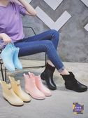 雨靴 韓版時尚雨鞋女膠鞋套鞋防水防滑保暖水鞋可愛成人短筒雨靴 4色35-39