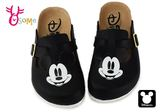 米奇90周年 大頭米奇兒童拖鞋 迪士尼 MIT MICKEY休閒鞋 #F5292黑色 ◆OSOME奧森童鞋