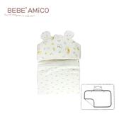 bebe Amico-童話森林-負離子紗布多功能造型帽毯(四層紗)