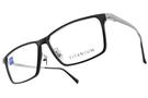 ZEISS 光學眼鏡 ZS75016 F900(黑-霧銀) 雙拼接方框款 TX5 鈦眼鏡 # 金橘眼鏡