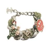 CHANEL 香奈兒 仙人掌及貝殼珍珠鏈帶造型手鍊 Cuba Enamel Charm Bracelet BRAND OFF