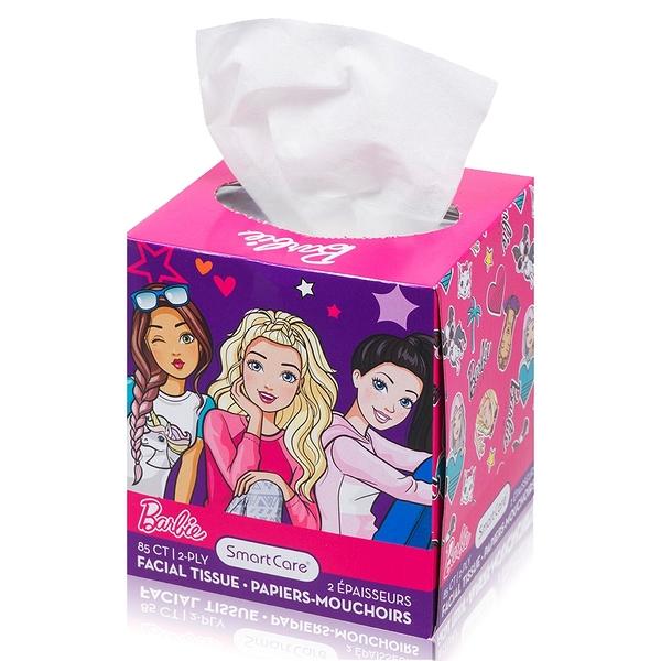 美國熱銷卡通 Barbie盒裝面紙85抽
