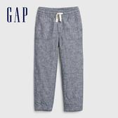 Gap男幼童 輕盈質感鬆緊休閒褲 541882-藍灰色