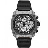 【台南 時代鐘錶 POLICE】義式潮流 NORWOOD重機械風格三眼日期腕錶 15472JSU-61 皮帶 鐵灰/黑