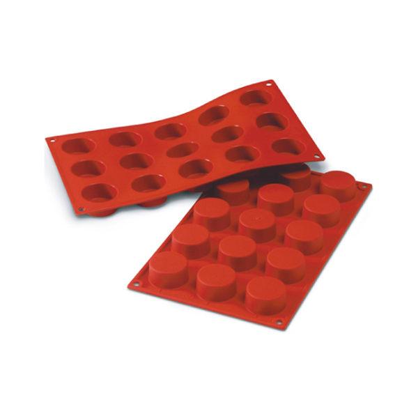 義大利進口《Silikomart》15連布丁矽膠巧克力模/冰模/22.104.77.0065