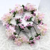 新娘頭飾花朵花環森女系韓式甜美超仙結婚紗配飾手工花仙子髮飾品  居家物語