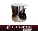 『 e+傢俱 』BT16 納帝魯斯 Nautilus 現代極簡風 高級鏡面 不銹鋼小茶几 強化灰玻