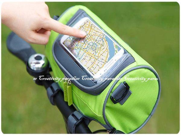【自行車圓筒包】韓系多功能防水防震自行車包 攜帶式側背包 車前包 腳踏車架收納包