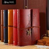 復古牛皮紙記事本小號隨身韓國個性創意手帳日記本女旅行風文藝 極有家