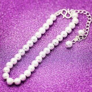 純銀光面圓珠佛珠手鏈轉運珠手鐲 交換禮物