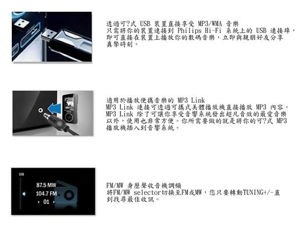 狂降促銷【PHILIPS飛利浦】手提MP3/USB音響 AZ1837