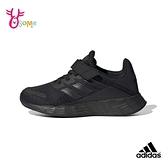adidas童鞋 男女童運動鞋 DURAMO SL 慢跑鞋 跑步鞋 透氣耐磨 魔鬼氈 經典款 S9385#黑色◆奧森