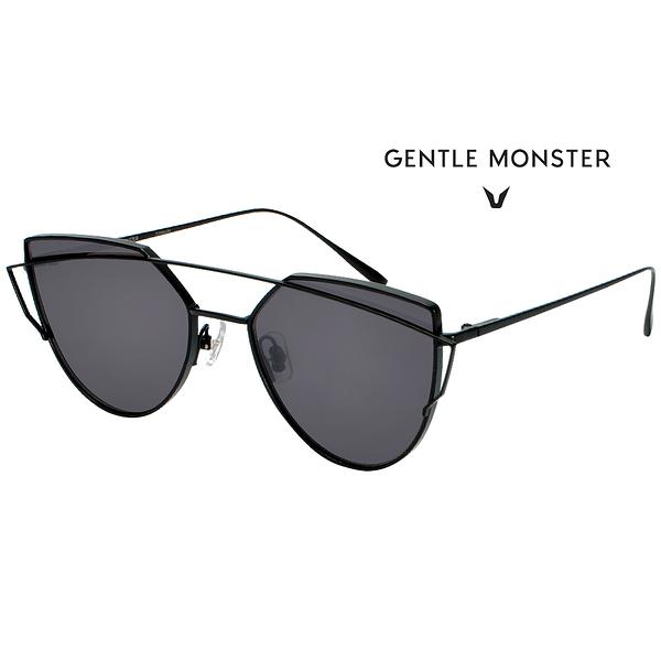 【GENTLE MONSTER 太陽眼鏡】LOVEPUNCH-M01 時尚墨鏡(黑框灰鏡面)