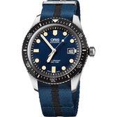 ORIS 豪利時 Divers Sixty-Five 1965 復刻潛水系列機械手錶-藍/42mm 0173377204055-0752128FC