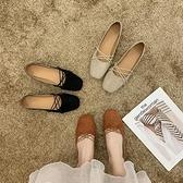 娃娃鞋 低跟單鞋女仙女風2021春季鞋子新款韓版百搭網紅平底豆豆晚晚鞋潮