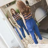 夏季新款九分褲女高腰韓范花苞哈倫褲寬鬆顯瘦配上衣兩件套裝 韓幕精品