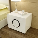 床頭櫃簡約現代臥室儲物收納櫃子組裝邊櫃白色烤漆床頭櫃整裝迷你QM 依凡卡時尚