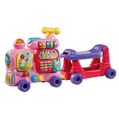 【 Vtech 聲光玩具 】4合1智慧積木學習車(粉紅款) / JOYBUS玩具百貨