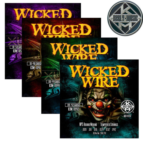 【小叮噹的店】全新 美國 Kerly Music 電吉他弦 Wicked Wire 系列 金屬回火弦 0942~1050