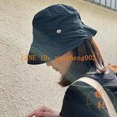 薄款漁夫帽可折疊褶皺百搭遮陽帽夏季韓版防曬帽子【橘社小鎮】