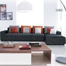 L型沙發【UHO】畢昂絲L型棉麻布沙發(...