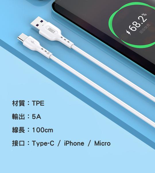 ⭐星星小舖⭐ 台灣出貨 5A 快充線 手機充電 充電線 手機快充 快充 Micro iphone type-C