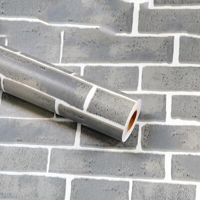 仿磚紋牆紙自黏防水防潮可擦洗牆壁紙飯館餐廳店面裝修磚頭塊牆貼 電購3C