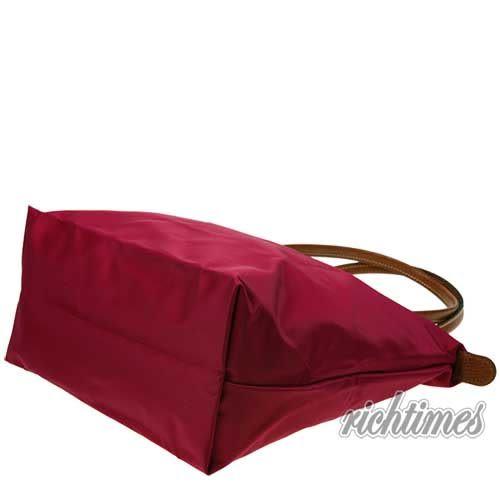【裕代 LONGCHAMP】紫紅水餃肩背包(長把) LC0C8531