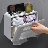 衛生間紙巾盒免打孔防水洗手間廁所抽紙盒放衛生紙的置物架壁掛式 安雅家居館