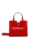 ■專櫃66折■全新真品■Off-White Mini Box 小牛皮托特 2用包 紅色