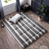床墊1.8m床1.5m床1.2米單人雙人褥子墊被學生宿舍海綿榻榻米床褥YYJ 深藏blue
