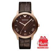 ARMANI 亞曼尼 古典羅馬時刻簡約腕錶*AR1613公司貨 附贈原廠精美提帶 錶盒