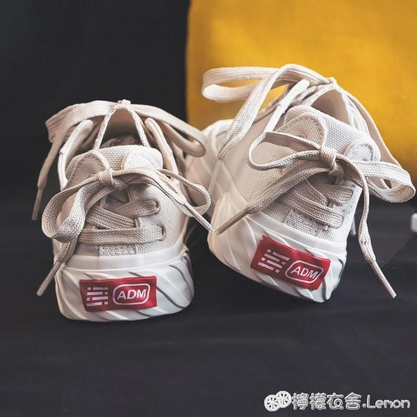 帆步女鞋年新款春季日系小白鞋森女系學生百搭帆布鞋爆款