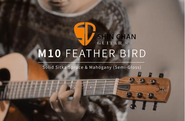 aNueNue M10E 羽毛鳥36吋可插電小吉他 雲杉面板/桃花心木側背板 (面單板)附多樣配件【m10e】